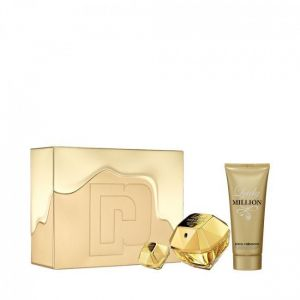 Paco Rabanne Lady Million 80ml woda perfumowana + 100ml balsam do ciała + 5ml woda perfumowana