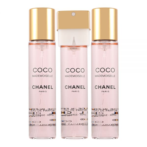 Chanel Coco Mademoiselle Twist and Spray 3x20ml woda toaletowa wkłady+atomizer